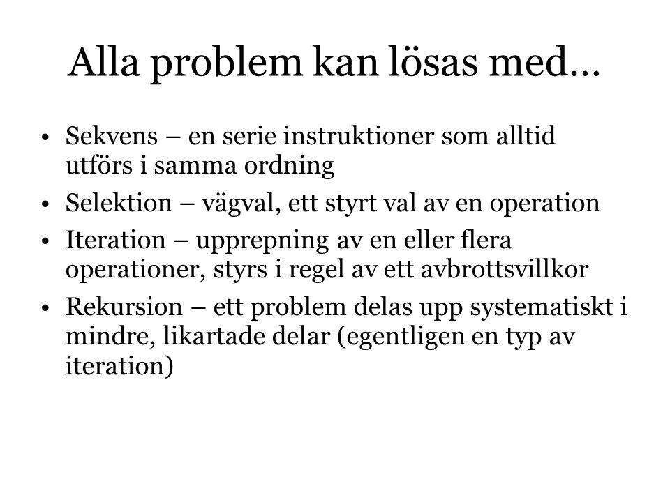 Alla problem kan lösas med…