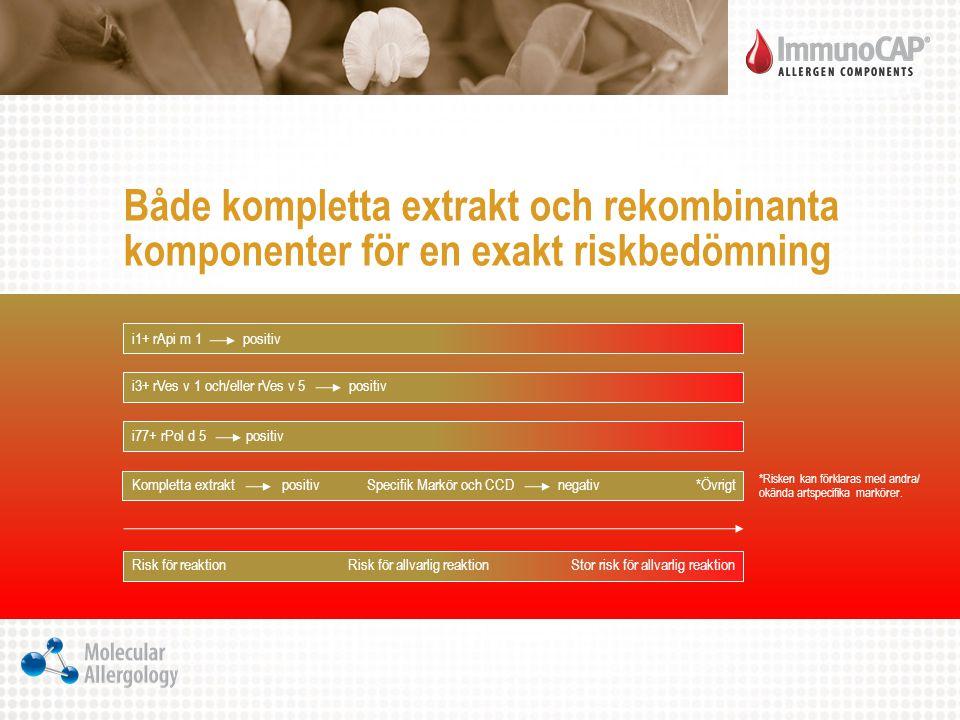Både kompletta extrakt och rekombinanta komponenter för en exakt riskbedömning
