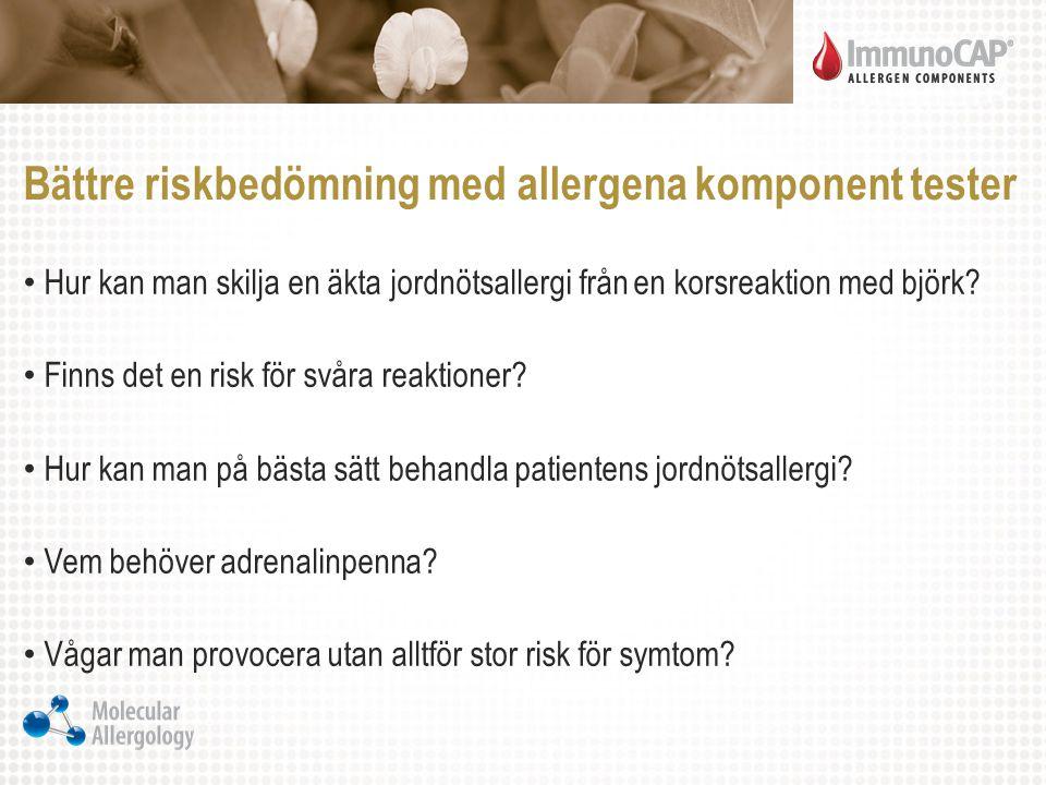 Bättre riskbedömning med allergena komponent tester