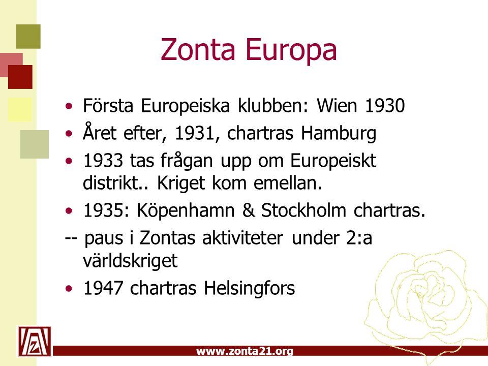 Zonta Europa Första Europeiska klubben: Wien 1930