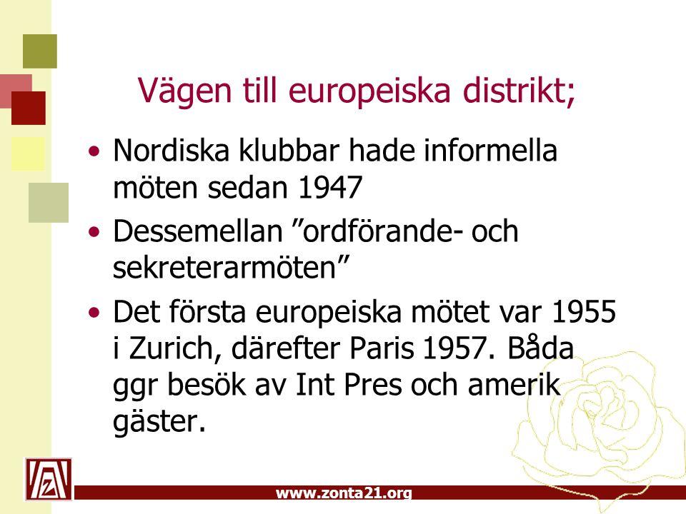 Vägen till europeiska distrikt;