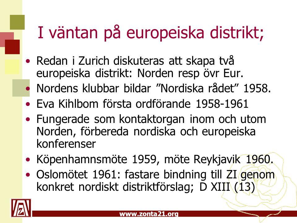 I väntan på europeiska distrikt;