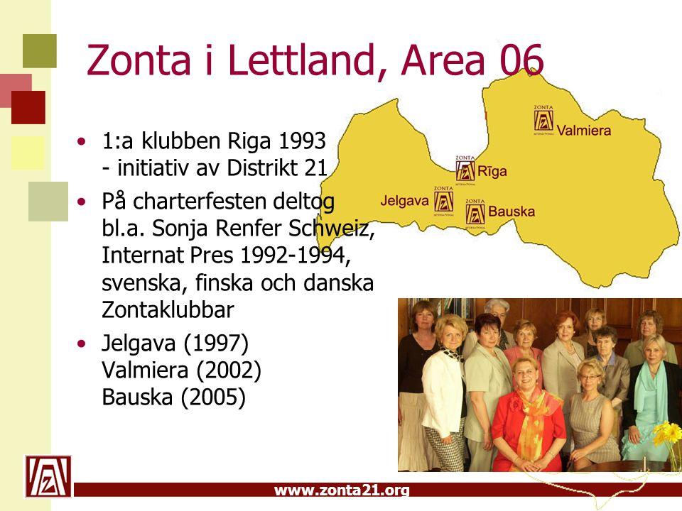 Zonta i Lettland, A rea 06 1:a klubben Riga 1993 - initiativ av Distrikt 21.