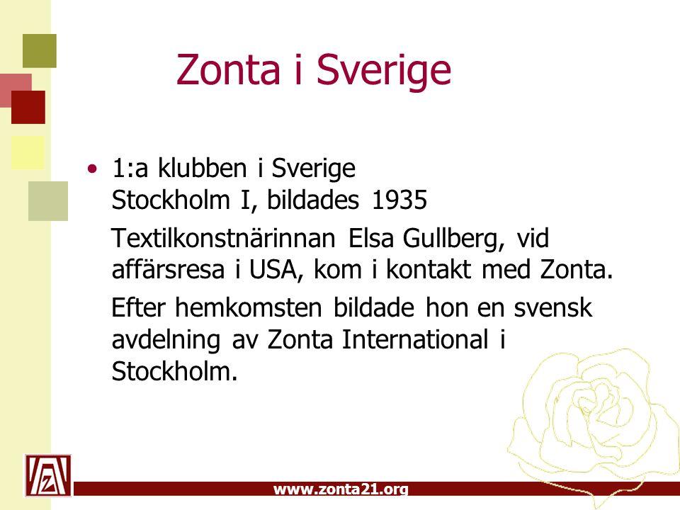 Zonta i Sverige 1:a klubben i Sverige Stockholm I, bildades 1935