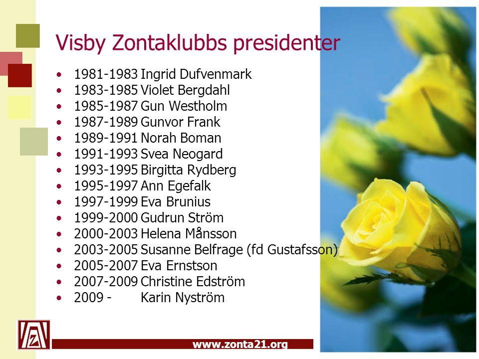 Visby Zontaklubbs presidenter