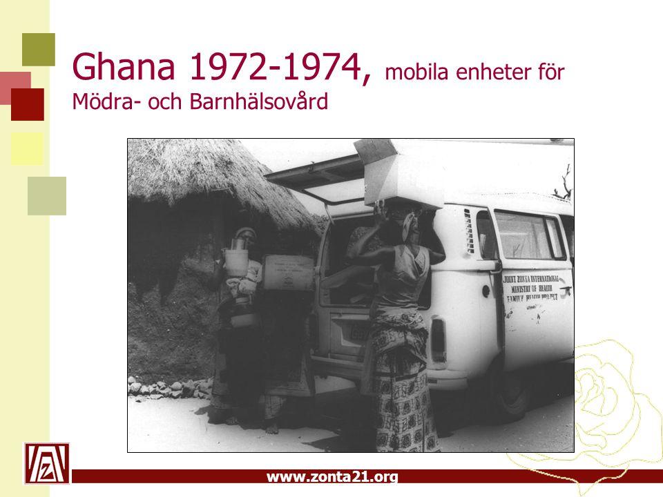 Ghana 1972-1974, mobila enheter för Mödra- och Barnhälsovård