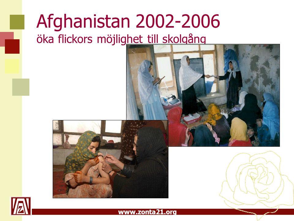 Afghanistan 2002-2006 öka flickors möjlighet till skolgång
