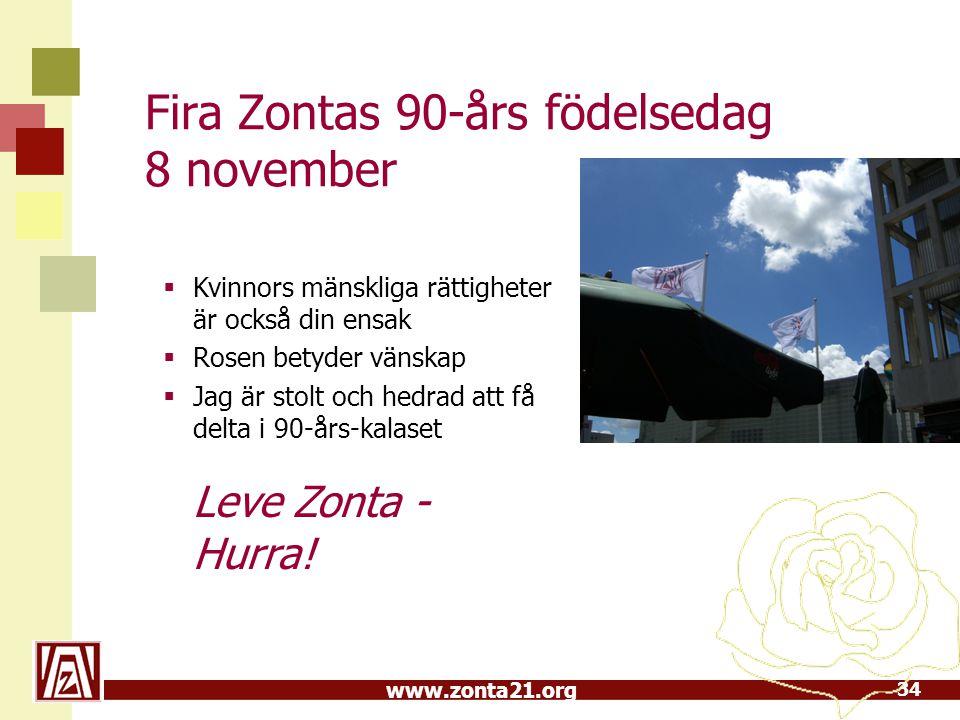 Fira Zontas 90-års födelsedag 8 november