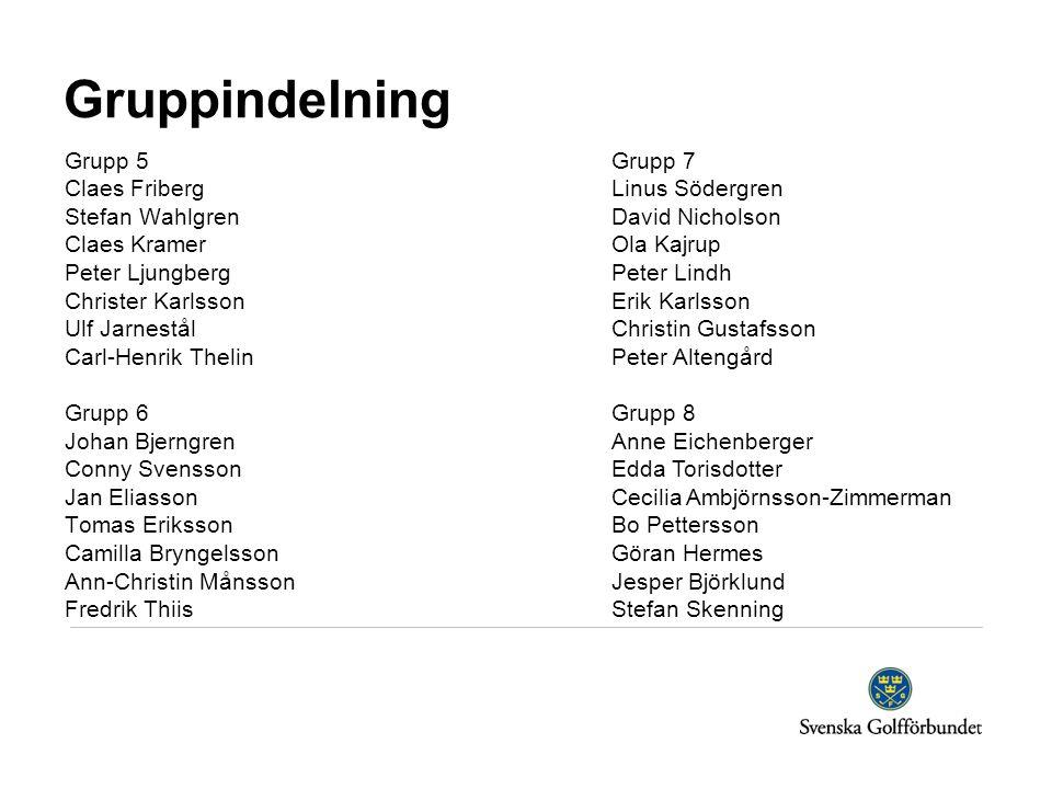 Gruppindelning Grupp 5 Claes Friberg Stefan Wahlgren Claes Kramer