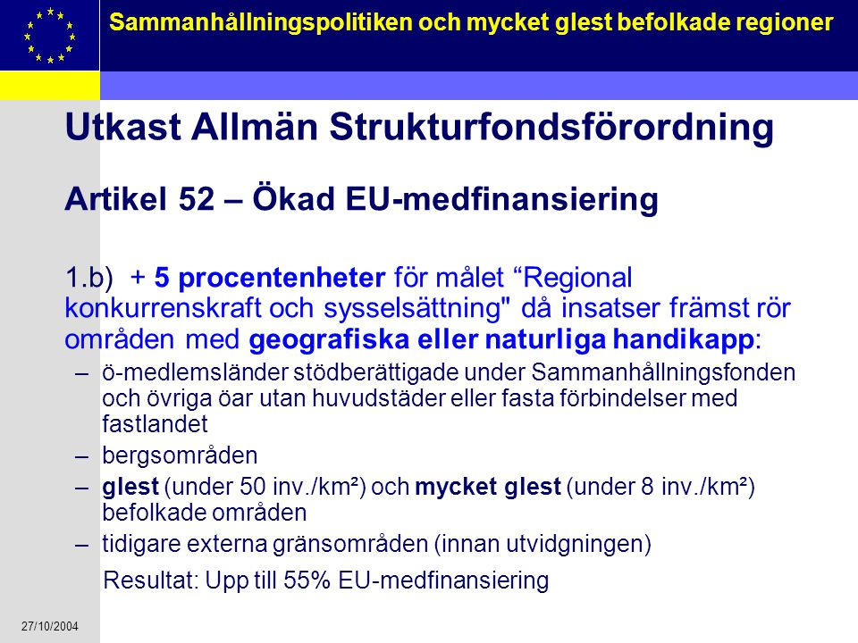 Utkast Allmän Strukturfondsförordning