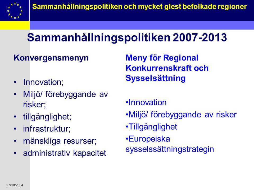 Sammanhållningspolitiken 2007-2013