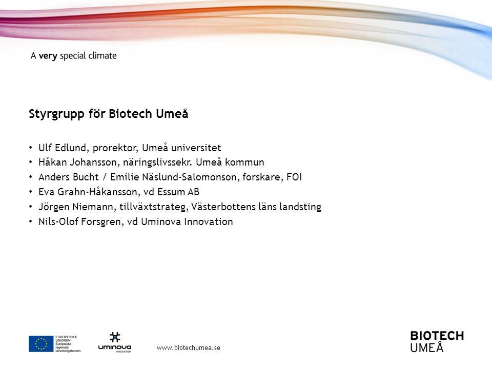 Styrgrupp för Biotech Umeå