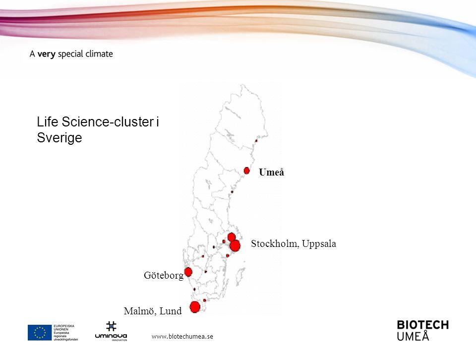 Life Science-cluster i Sverige