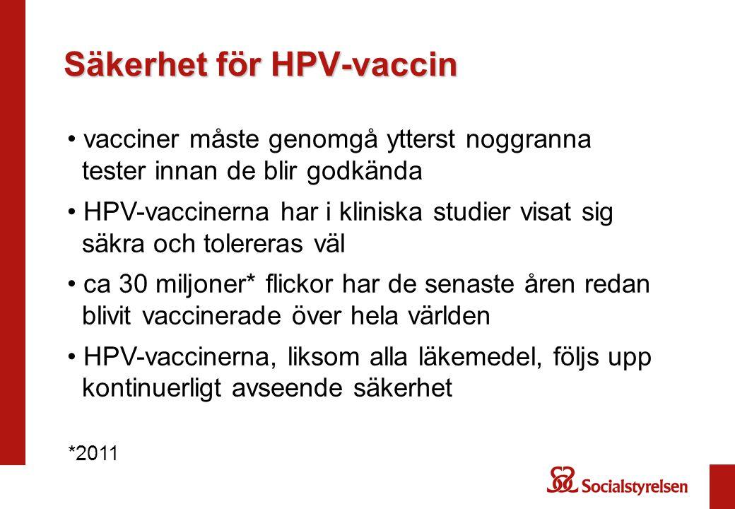 Säkerhet för HPV-vaccin