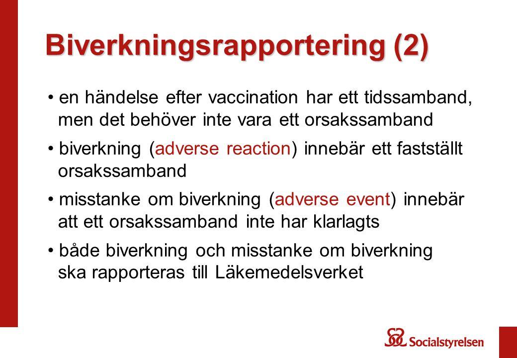 Biverkningsrapportering (2)