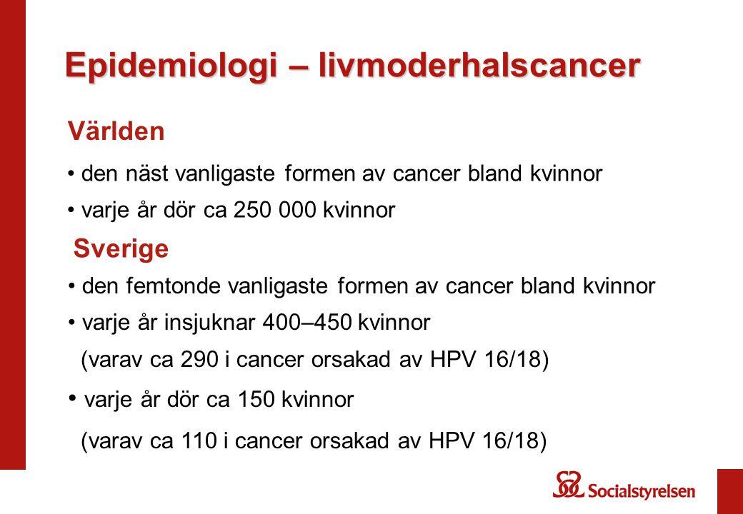 Epidemiologi – livmoderhalscancer