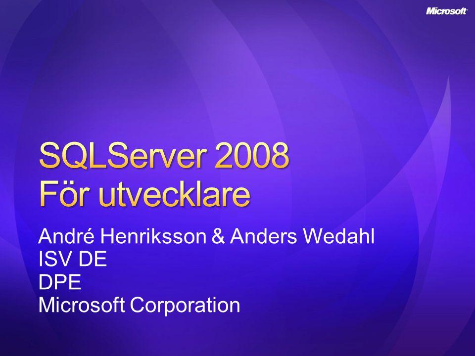 SQLServer 2008 För utvecklare