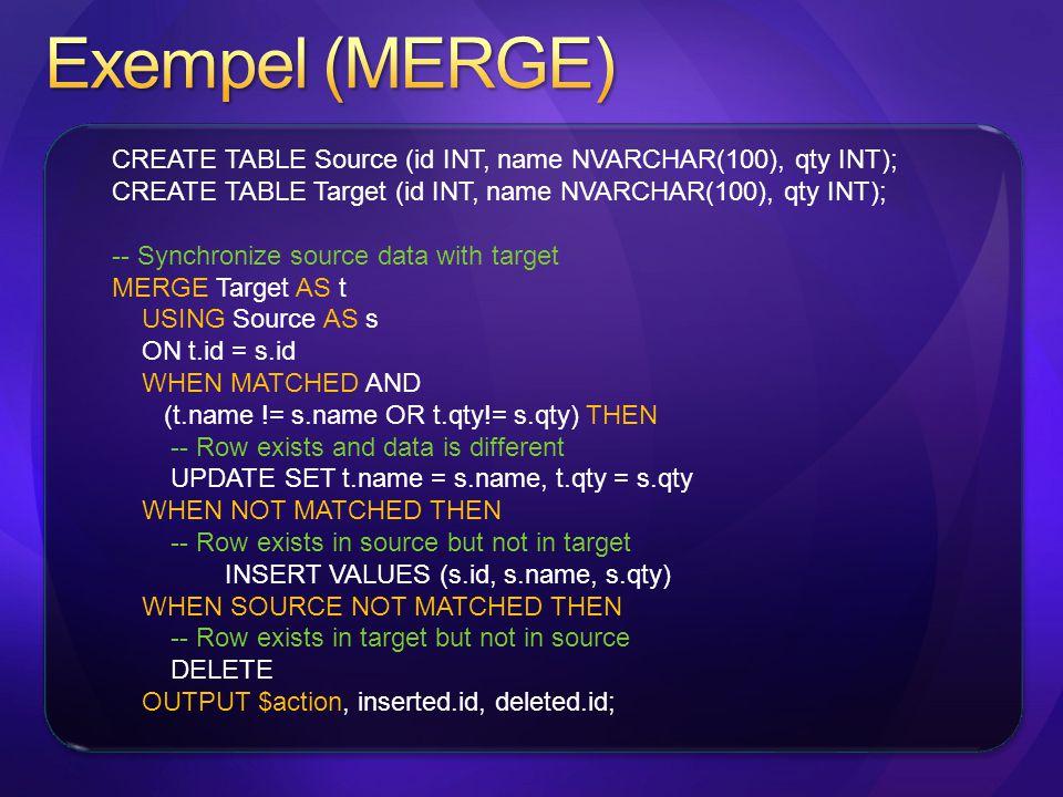 Exempel (MERGE)