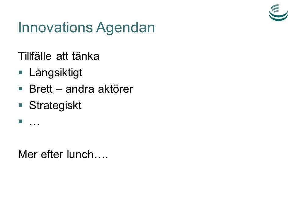 Innovations Agendan Tillfälle att tänka Långsiktigt