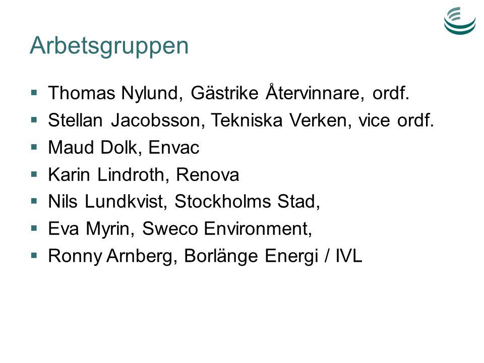 Arbetsgruppen Thomas Nylund, Gästrike Återvinnare, ordf.