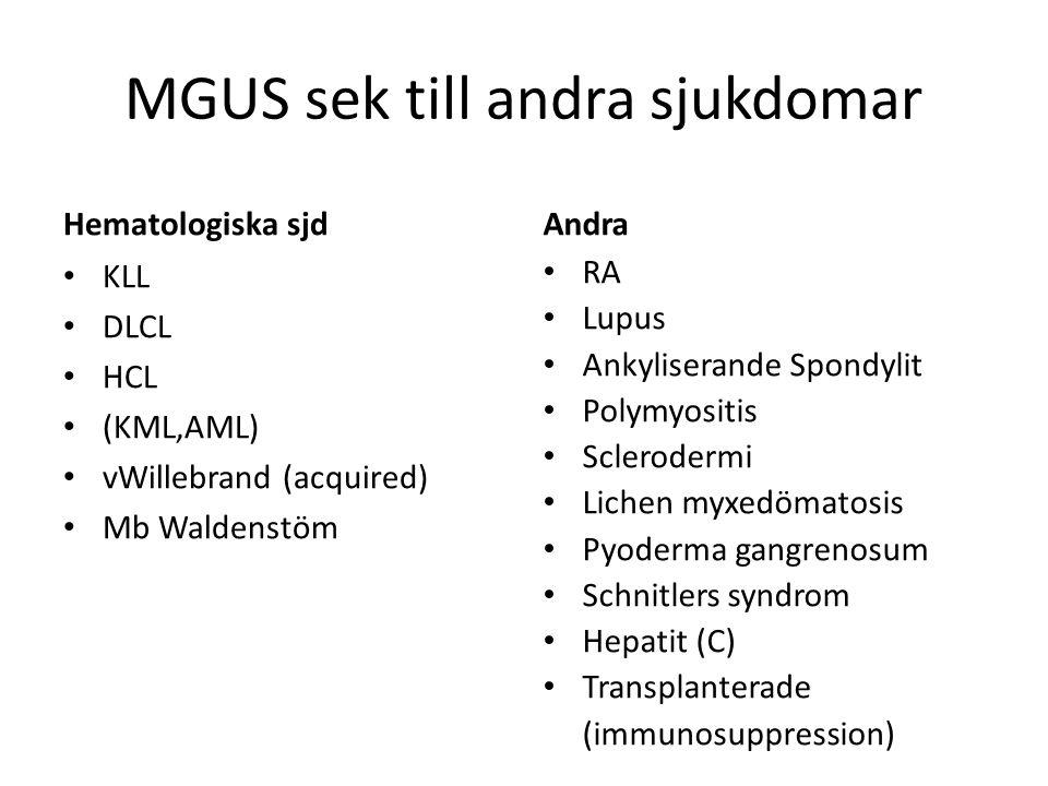 MGUS sek till andra sjukdomar