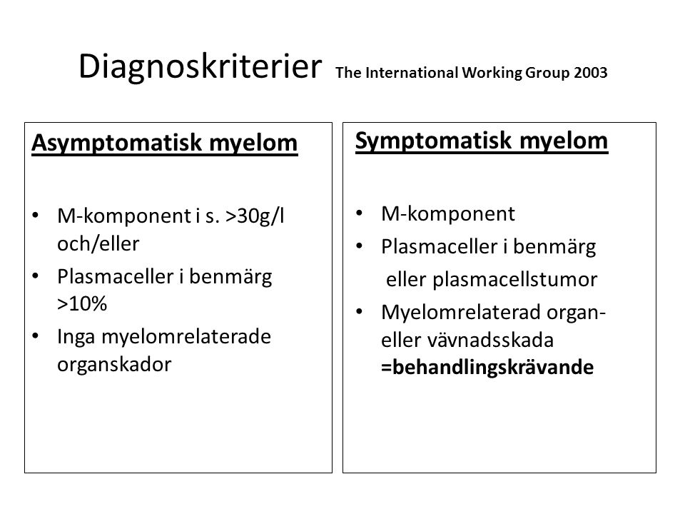 Diagnoskriterier The International Working Group 2003