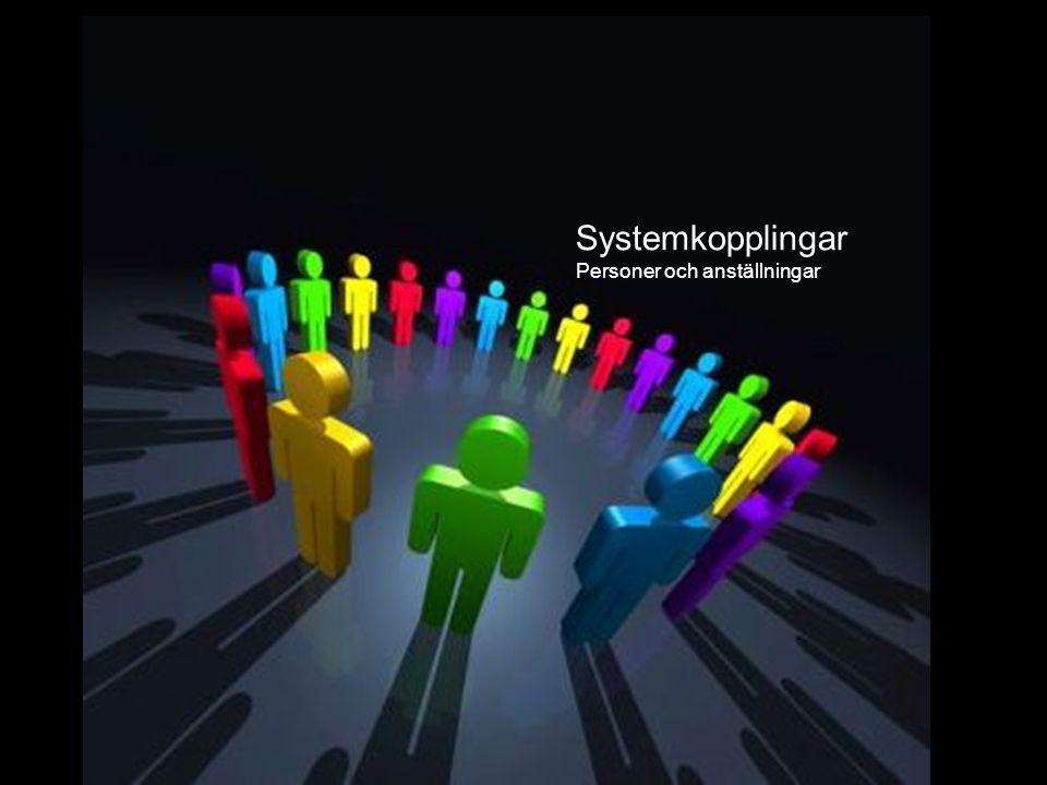 Systemkopplingar System Systemkopplingar Personer och anställningar