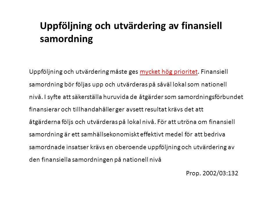 Uppföljning och utvärdering av finansiell samordning