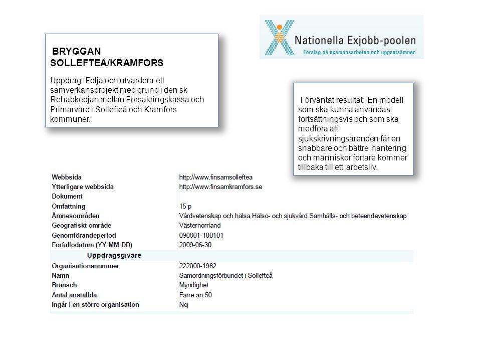 BRYGGAN SOLLEFTEÅ/KRAMFORS