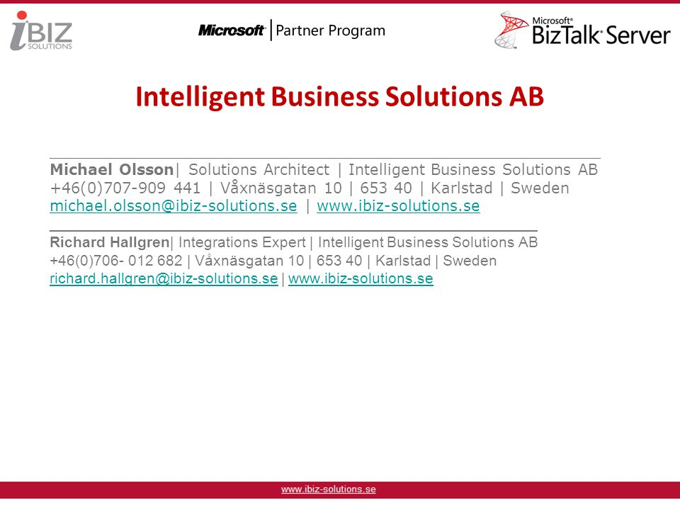 Intelligent Business Solutions AB