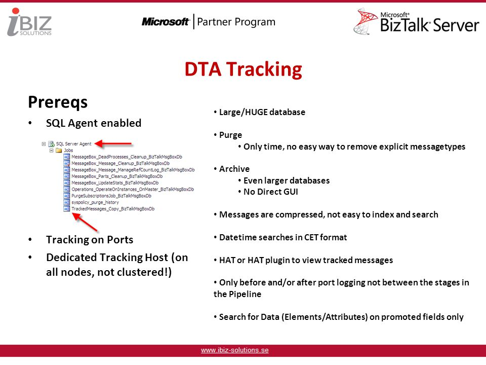DTA Tracking Prereqs SQL Agent enabled Tracking on Ports