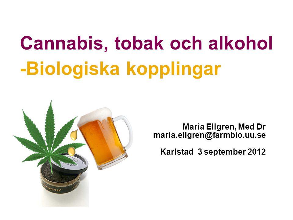 Cannabis, tobak och alkohol