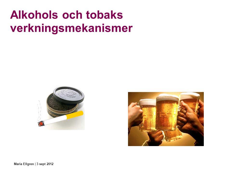 Alkohols och tobaks verkningsmekanismer