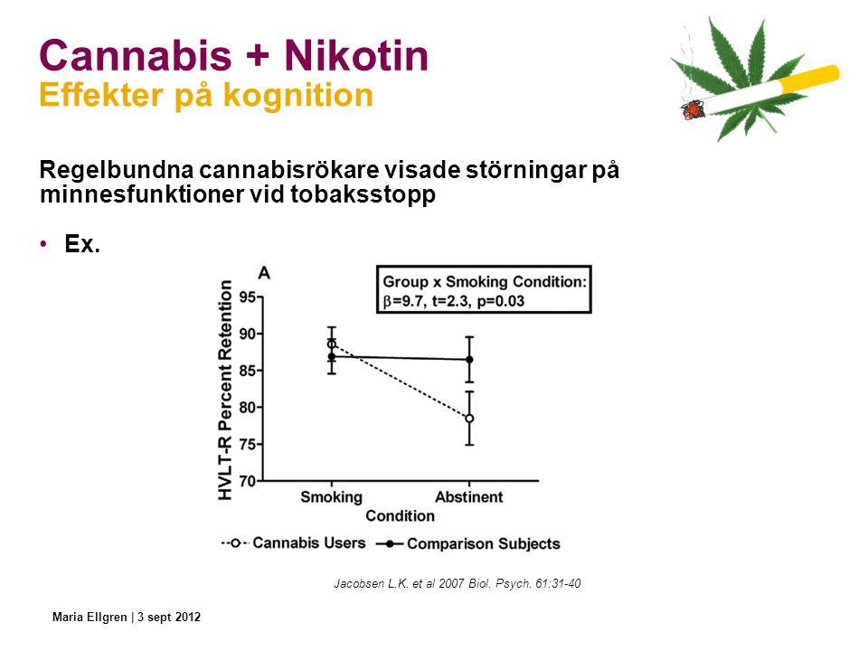 Cannabis + Nikotin Effekter på kognition