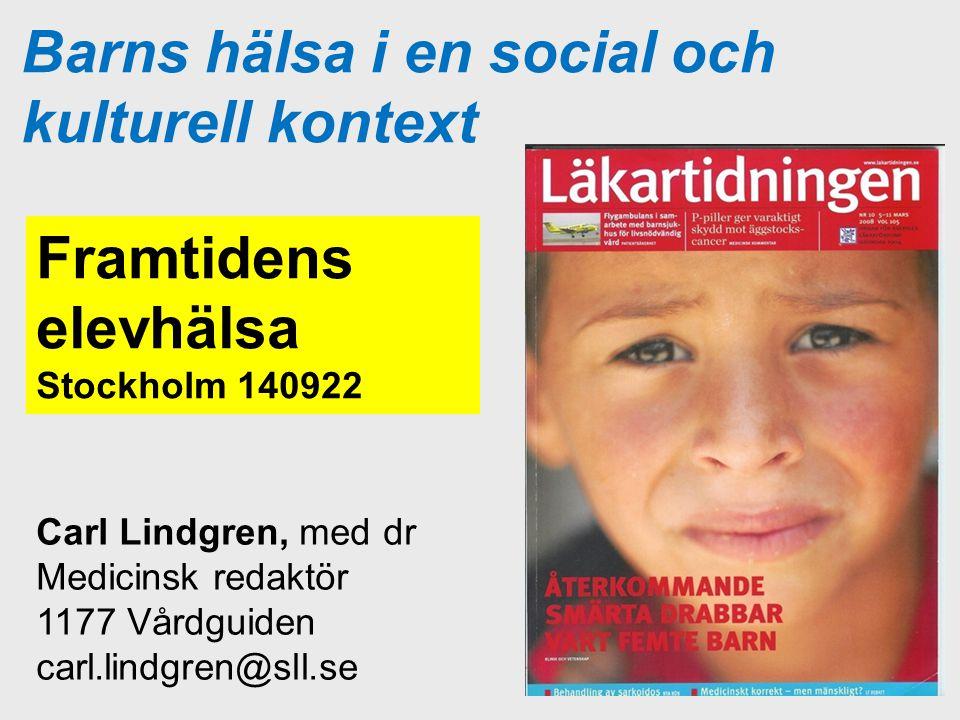 Barns hälsa i en social och kulturell kontext