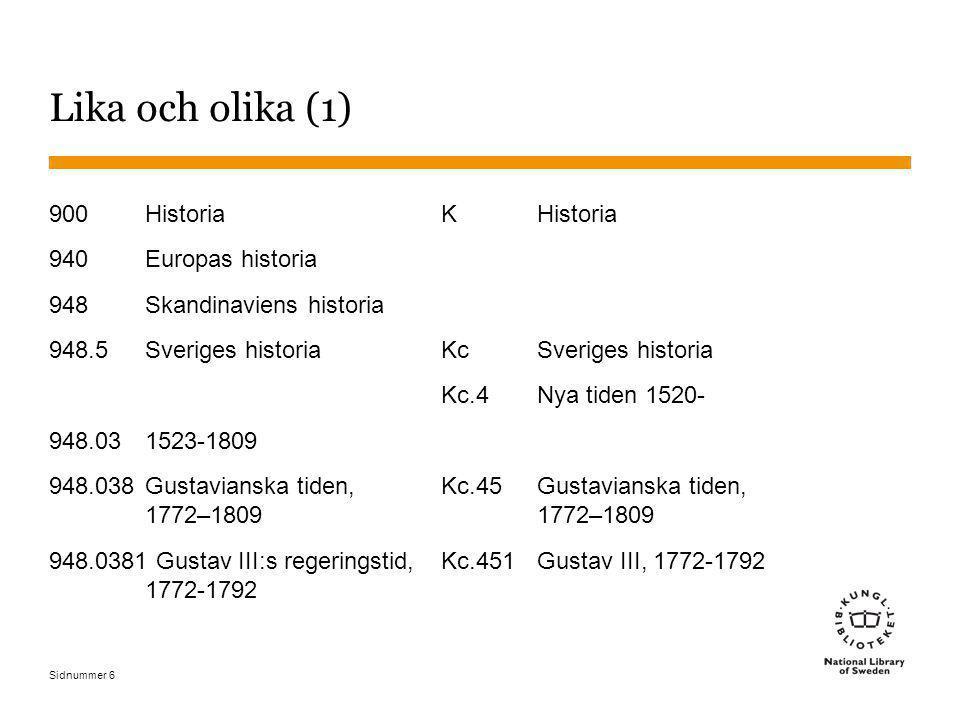 Lika och olika (1) 900 Historia 940 Europas historia