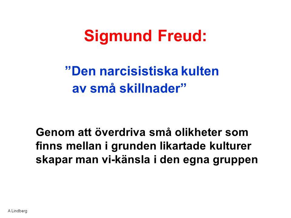 Sigmund Freud: Den narcisistiska kulten av små skillnader