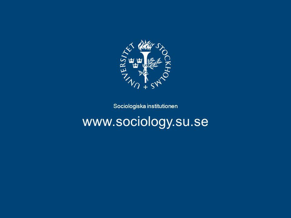 Sociologiska institutionen
