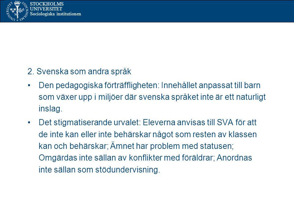 2. Svenska som andra språk