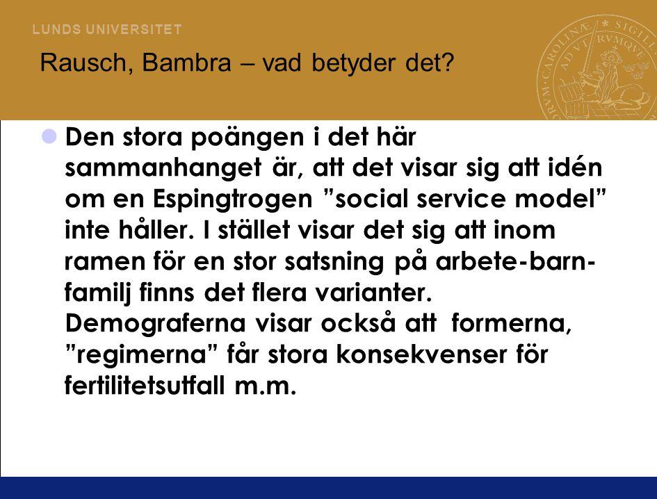 Rausch, Bambra – vad betyder det