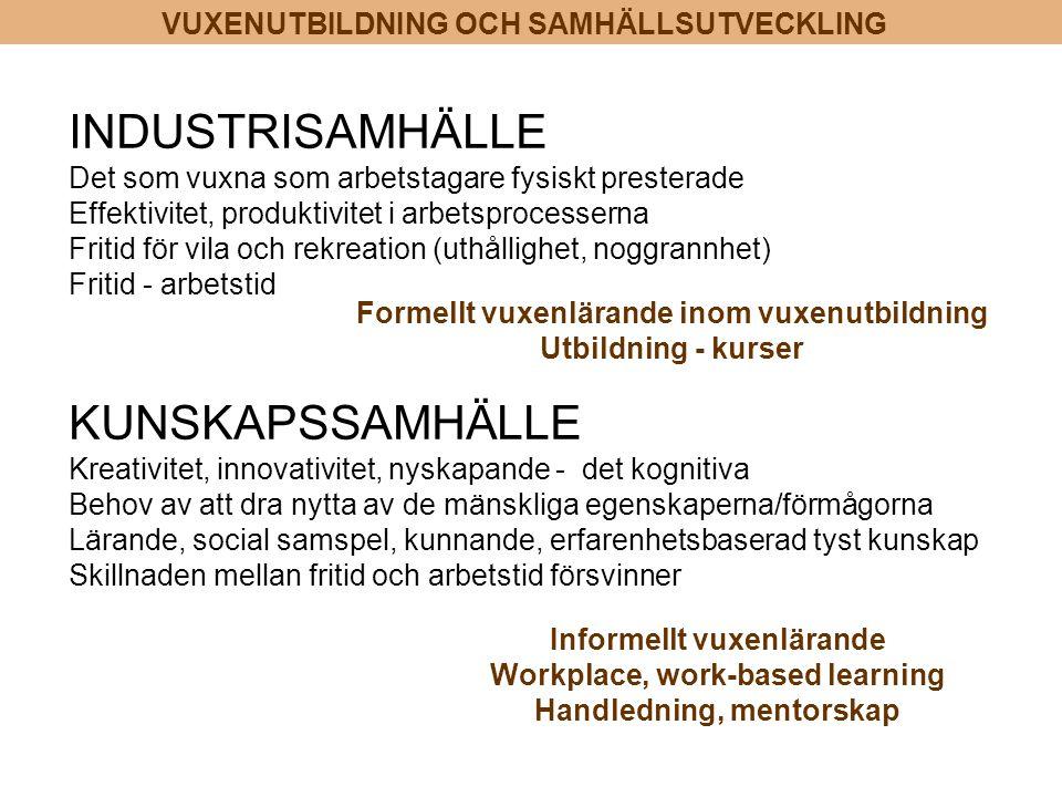 INDUSTRISAMHÄLLE KUNSKAPSSAMHÄLLE