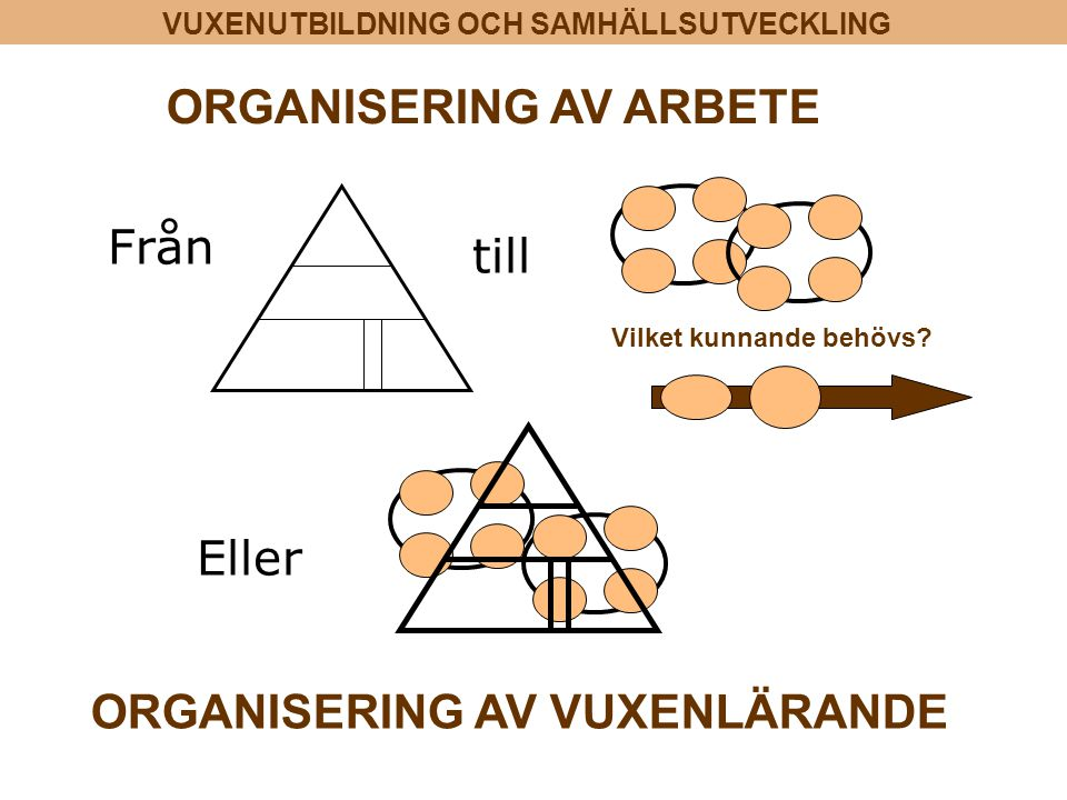 ORGANISERING AV ARBETE