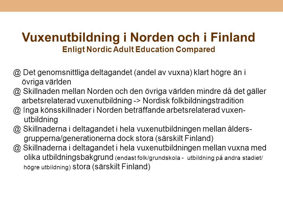 Vuxenutbildning i Norden och i Finland