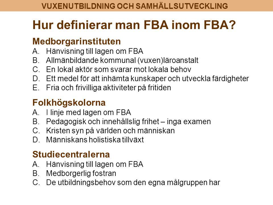 Hur definierar man FBA inom FBA