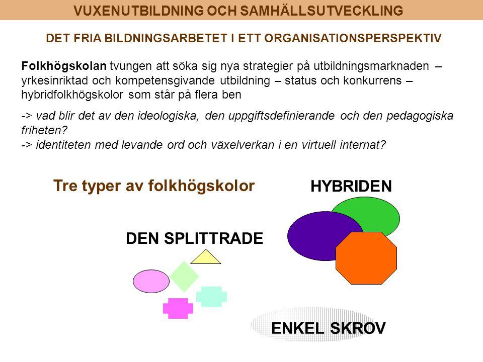 DET FRIA BILDNINGSARBETET I ETT ORGANISATIONSPERSPEKTIV
