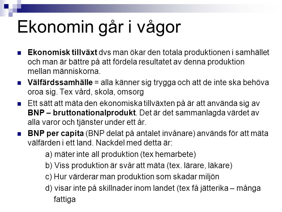 Ekonomin går i vågor
