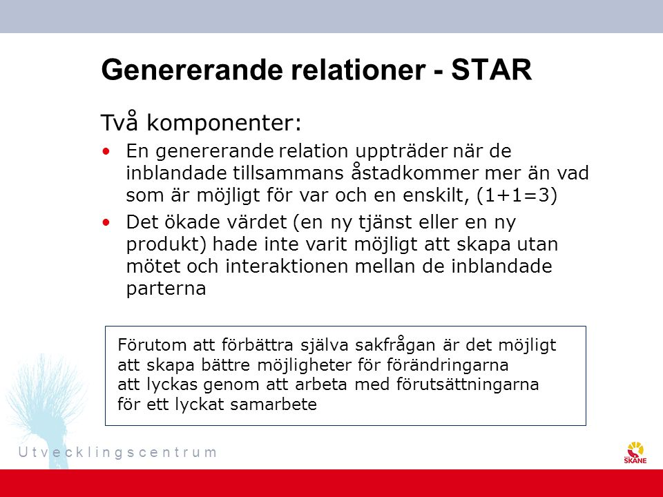 Genererande relationer - STAR