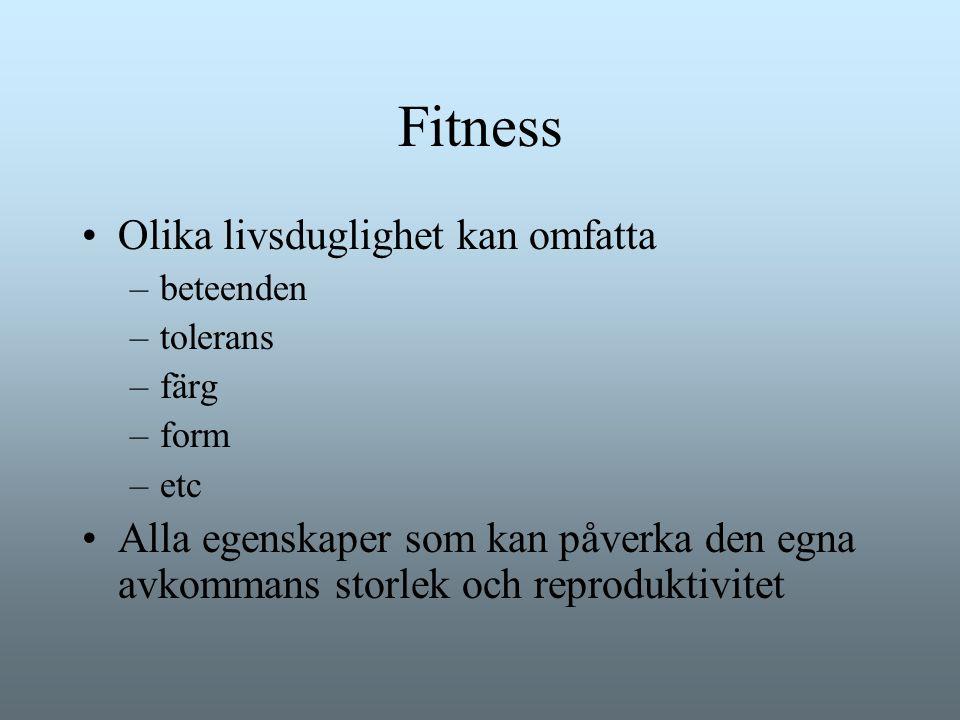 Fitness Olika livsduglighet kan omfatta