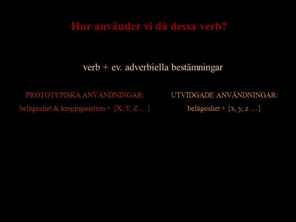 Hur använder vi då dessa verb
