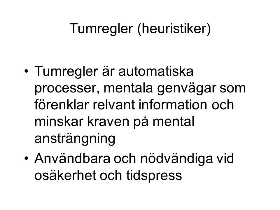 Tumregler (heuristiker)